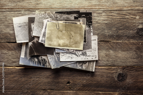 Vintage blank photo - 207043946