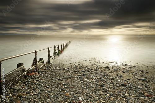 Fotobehang Beige ocean