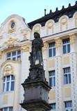 Bratislava in Slovakia Ancient statue in the main square of the