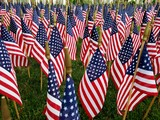 A Sea of American Flags; Patriotism, Symbolism, Veterans, Military, Holiday Concepts - 207052153