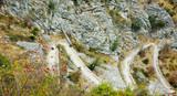Mountain winding Hiking trail,