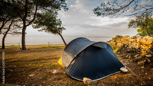 Namiot, urlop pod namiotem