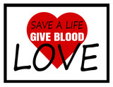 give blood save a life design - 207064186