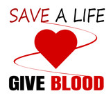 give blood save a life design - 207064193