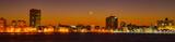 Havana skyline at sunset, with crescent moon