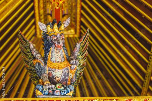 Plexiglas Bali Balinese God traditional statue Close up, Bali temple