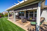 Modern Rear Yard Patio With Furniture - 207082508