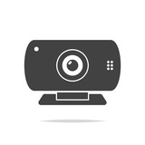 Webcam icon vector isolated - 207089938
