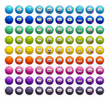 Cartoon colorful fluffy balls characters. - 207098730