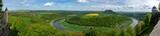 Panoramafoto vom Lilienstein und der Saesischen Schweiz