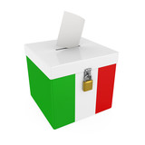 Ballot Box with Flag of Italy Isolated - 207100142
