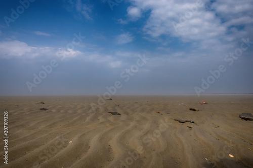 Fotobehang Noordzee Nebel im Watt
