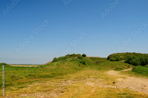Canvas Honing Dunes in summer. Countryside landscape, sunny day