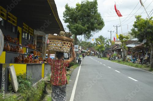 Fotobehang Bali Woman in Bali - Indonesia