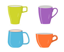 Illustration  Colorful Cups Sticker