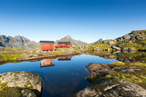 Munkebu mountain in Lofoten, Norway - 207123195