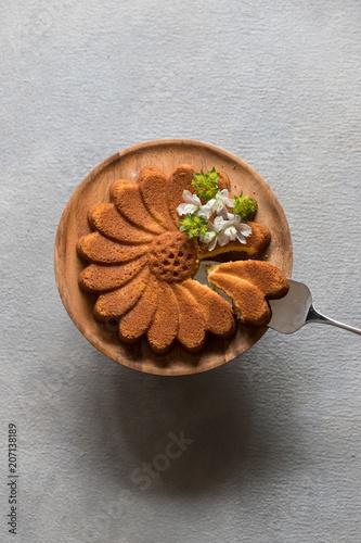 マルグリット型のアーモンドケーキ