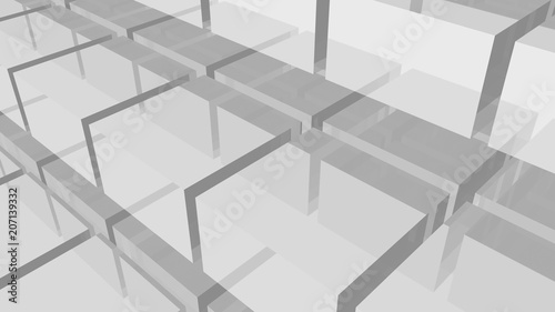 Cubes background. Geometric wallpaper. 3d rendering. Glass shapes. Abstract geometric backdrop. Blocks. Simple poster. Square shapes. Digital image. © ADELART