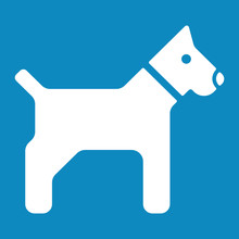 Strand Icon  Hundestrand Sticker