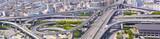 高速道路のインターチェンジ(パノラマ)