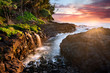 Sunset at Queen's Bath, Kauai, Hawaii