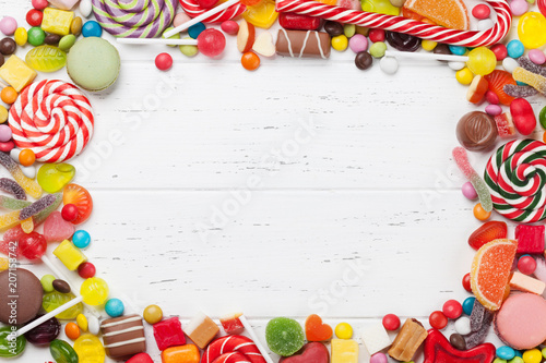 Colorful sweets. Lollipops and candies - 207153742