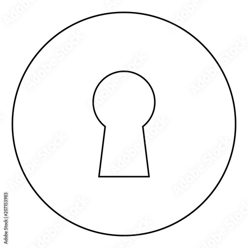 Keyhole Icon Black Color In Circle