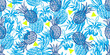 Seamless pattern with tropical motif  - 207165148