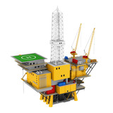 Oil Drilling Offshore Platform Isolated