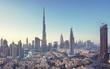 Leinwanddruck Bild - Dubai skyline, United Arab Emirates