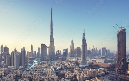 Leinwanddruck Bild Dubai skyline, United Arab Emirates