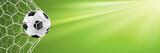 Fußball Hintergrund mit Fußball im Tor Netz - 207186542
