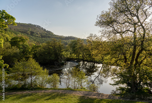 Horseshoe Falls outside Llangollen in Wales - 207205539