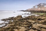 low water time on atlantic coast in front of city in Morocco - 207233710