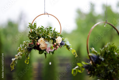 decoration of flowers, for wedding