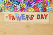 Happy Fathers Day wooden letter - 207240349