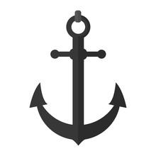 Nautical Anchor Object Ship Symbol Sticker