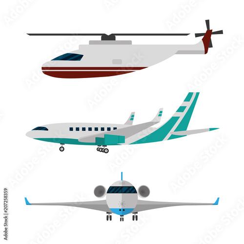 Fototapeta Set of aircrafts