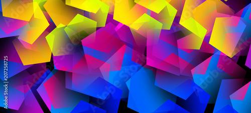 Abstract background, dark, bright elements, neon - 207258725