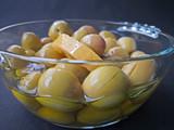 Limonlu yağlı zeytin
