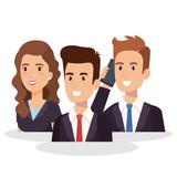 business people isometric avatars vector illustration design - 207280106