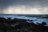 tempête et averse de grêle sur la bretagne