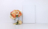 Canvas mockup with roses - 207294956