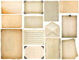Used paper sheet Vintage book pages photo frame isolated