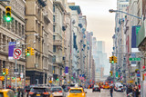 Broadway in New York City with people and cars - 207304139