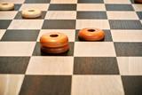 wooden artisan chessboard