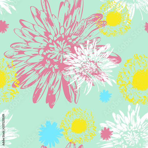 Vector Seamless Floral Pattern - 207320569