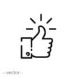 like sign, line icon - vector illustration eps10