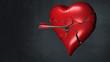 Herz wird durch einen Pfeil durchbohrt
