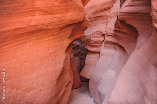 Fotobehang Oranje eclat USA. Antelope Canyon in the north of Arizona